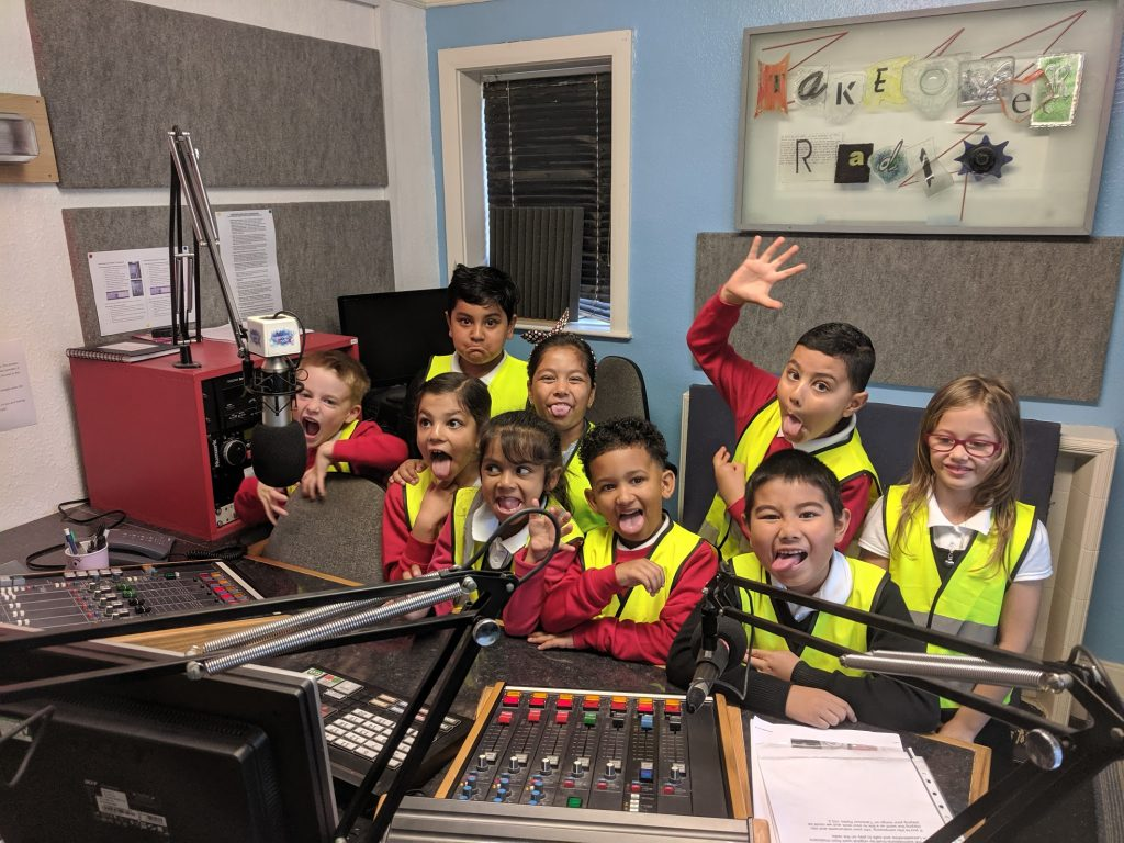 Pupils from Wolsey House Primary School visit Takeover Radio
